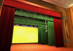 对于镜框式舞台,幕布是必不可少的设备,它在迁换场景,揭示活动主体图片